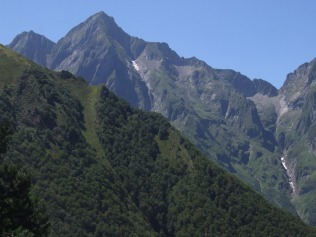 Mont Valier from Col de Pause, Ariege