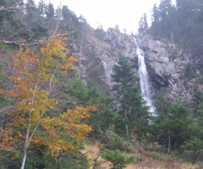Cascade d'Ars at its weakest, in late autumn