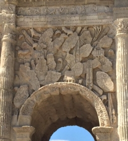 Frieze carved into the Arc de Triomphe, Orange