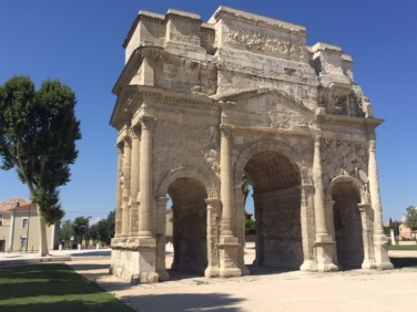 Arc de Triomphe at the ancient entrance to Orange, Roman Arausio