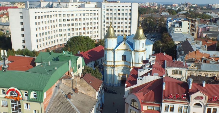 Ivano-Frankivsk from the town hall viewing platform