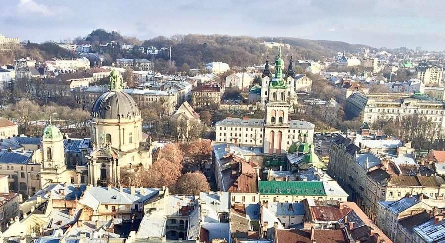 Lviv from the top of the Town Hall