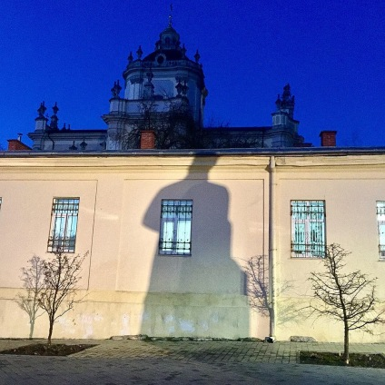 Shadow of Sheptytsky over St George's Cathedral, Lviv