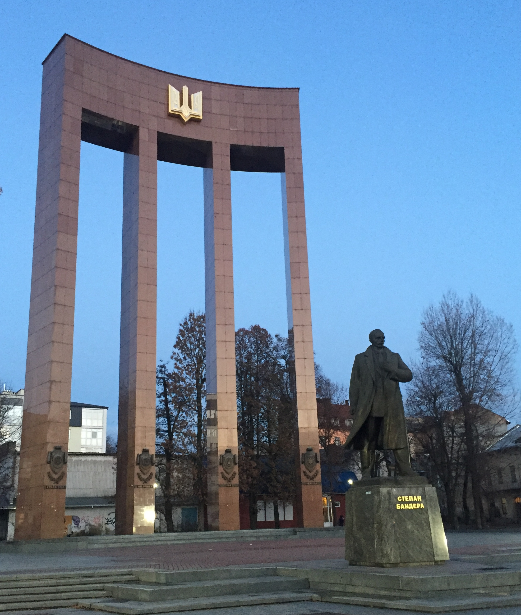 Stepan Bandera monument, Lviv