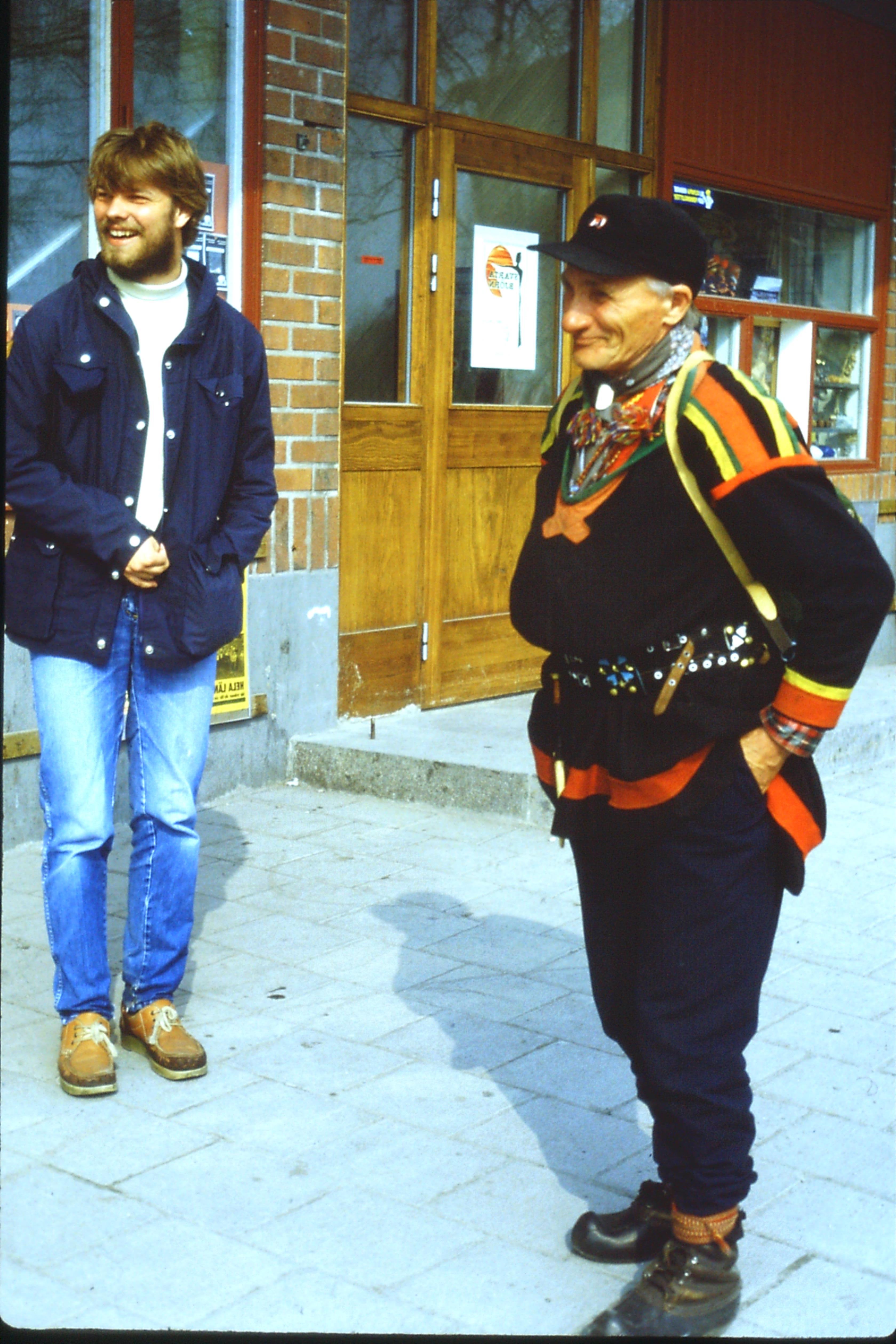 Ole and the Sami man, Kiruna