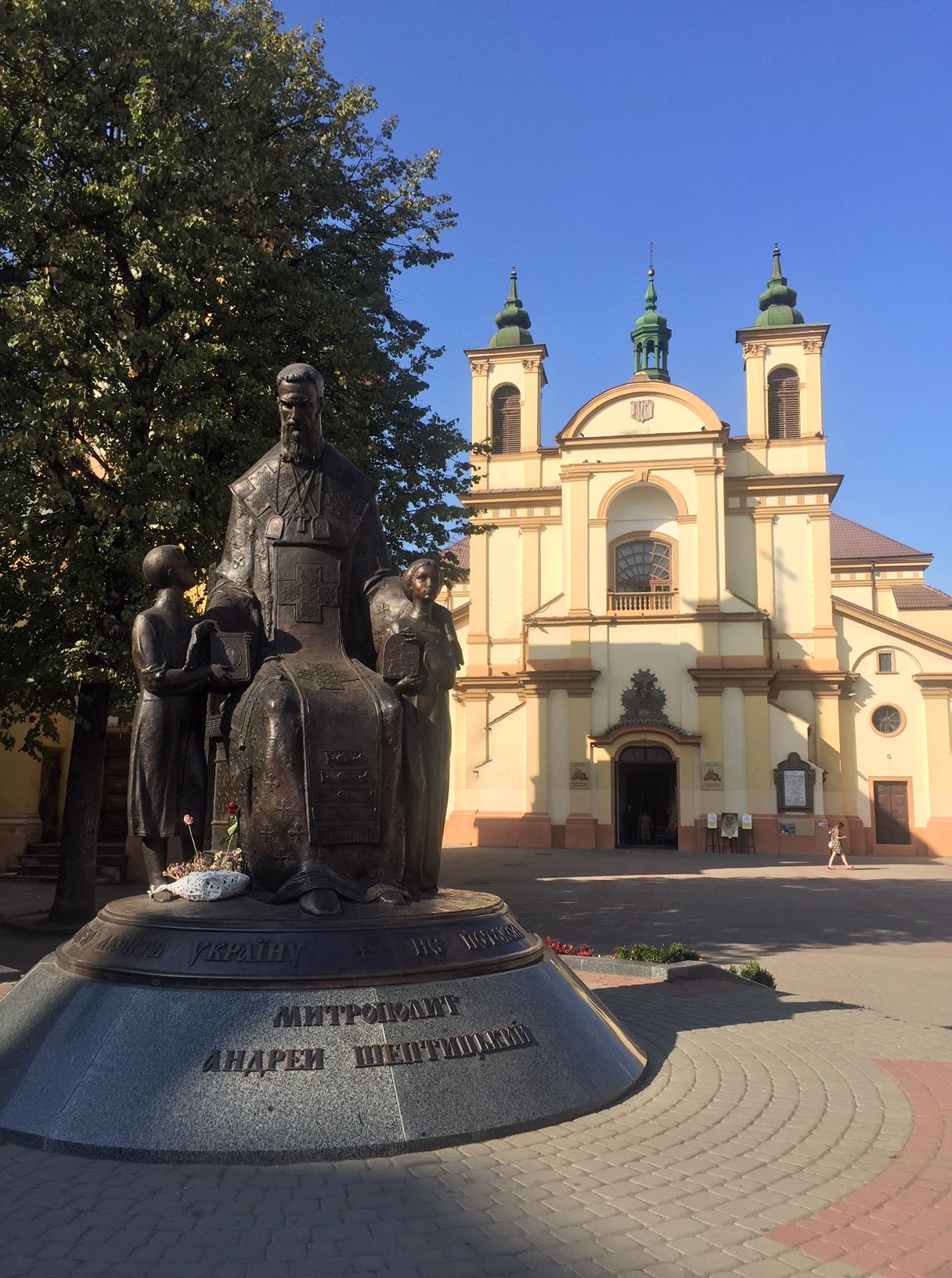 Sheptytsky Square Ivano-Frankivsk