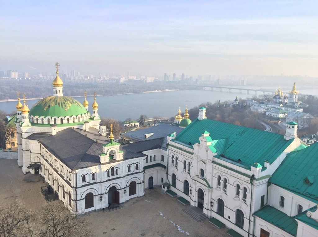 View from the Great Bell Tower Pechersk-Lavra
